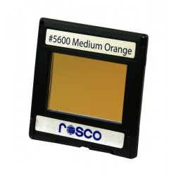 Rosco Permacolor -2in.x2in. Square Dichroic Glass- 35600 Medium Orange
