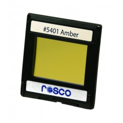 Rosco Permacolor - 2in.x2in. Square Dichroic Glass - 35401 Amber