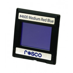 Rosco Permacolor -2inx2in Square Dichroic Glass- 34600 Medium Red Blue