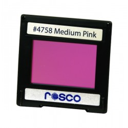 Rosco Permacolor - 2in.x2in. Square Dichroic Glass - 34758 Medium Pink