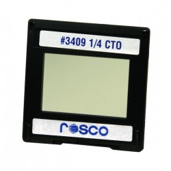 Rosco Permacolor - 2in.x2in. Square Dichroic Glass - 43409 Cinedichro 1/4 CTO