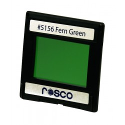 Rosco Permacolor - 2in. Round Dichroic Glass - 35156 Fern Green