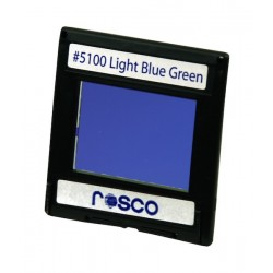 Rosco Permacolor - 2in. Round Dichroic Glass - 35100 Light Blue Green