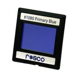 Rosco Permacolor - 2in. Round Dichroic Glass - 31080 Primary Blue
