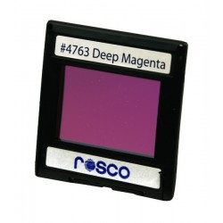 Rosco Permacolor - 2in. Round Dichroic Glass - 34763 Deep Magenta
