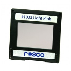 Rosco Permacolor - 2in. Round Dichroic Glass - 31033 Light Pink
