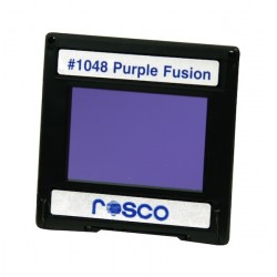 Rosco Permacolor - 2in. Round Dichroic Glass - 31048 Purple Fusion