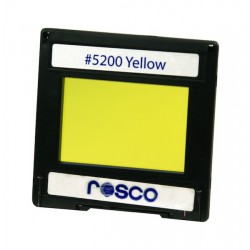 Rosco Permacolor - 5.25in. Round Dichroic Glass - 35200 Yellow