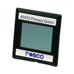 Rosco Permacolor - 5.25in. Round Dichroic Glass - 35055 Primary Green