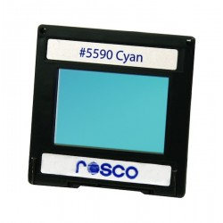 Rosco Permacolor - 5.25in. Round Dichroic Glass - 35590 Cyan