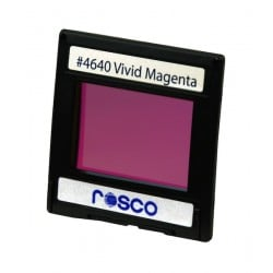 Rosco Permacolor - 5.25in. Round Dichroic Glass - 34640 Vivid Magenta