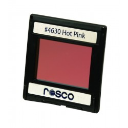 Rosco Permacolor - 5.25in. Round Dichroic Glass - 34630 Hot Pink