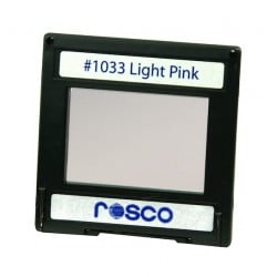 Rosco Permacolor - 5.25in. Round Dichroic Glass - 31033 Light Pink