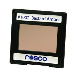 Rosco Permacolor - 5.25in. Round Dichroic Glass - 31002 Bastard Amber