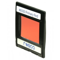 Rosco Permacolor - 6.3in. Round Dichroic Glass - 36500 Primary Red