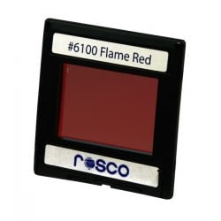Rosco Permacolor - 6.3in. Round Dichroic Glass - 36100 Flame Red