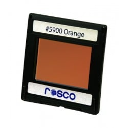 Rosco Permacolor - 6.3in. Round Dichroic Glass - 35900 Orange