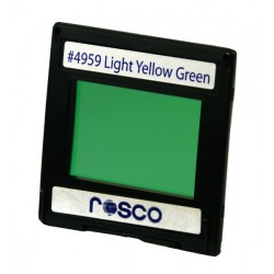 Rosco Permacolor -6.3in Round Dichroic Glass- 34959 Light Yellow Green