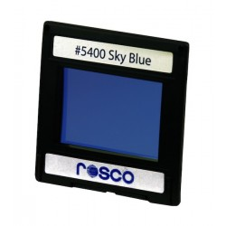 Rosco Permacolor - 6.3in. Round Dichroic Glass - 35400 Sky Blue