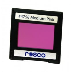 Rosco Permacolor - 6.3in. Round Dichroic Glass - 34758 Medium Pink