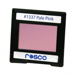 Rosco Permacolor - 6.3in. Round Dichroic Glass - 31337 Pale Pink