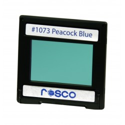 Rosco Permacolor - 6.3in. Round Dichroic Glass - 31073 Peacock Blue