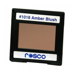 Rosco Permacolor - 6.3in. Round Dichroic Glass - 31018 Amber Blush