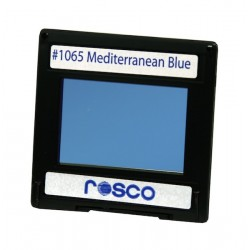 Rosco Permacolor -6.3in Round Dichroic Glass- 31065 Mediterranean Blue