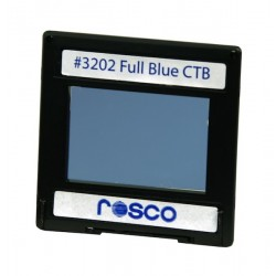 Rosco Permacolor - 6.3in. Round Dichroic Glass - 43202 Cinedichro Full Blue CTB