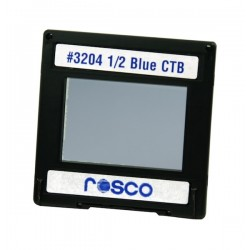 Rosco Permacolor - 6.3in. Round Dichroic Glass - 43204 Cinedichro 1/2 Blue CTB