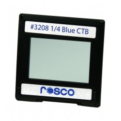 Rosco Permacolor - 6.3in. Round Dichroic Glass - 43208 Cinedichro 1/4 Blue CTB