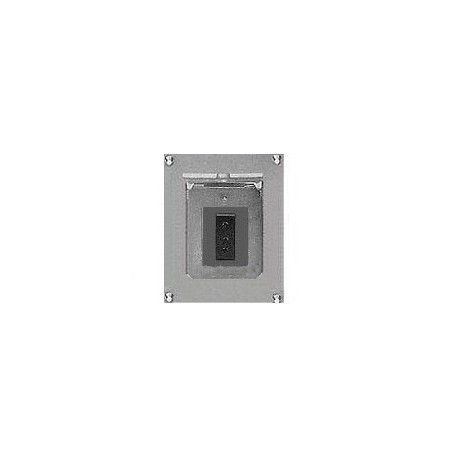 Altman Flush Wall Box - Single Grounded Pin Connector