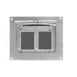 Altman Flush Wall Box - Double Gang - Blank Panel