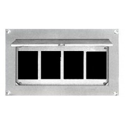 Altman Flush Wall Box - 4 Gang - Blank Panel