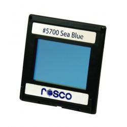 Rosco Permacolor - 13.5in. Round Dichroic Glass - 35700 Sea Blue