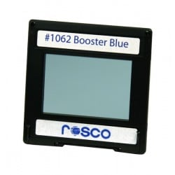 Rosco Permacolor - 13.5in. Round Dichroic Glass - 31062 Booster Blue