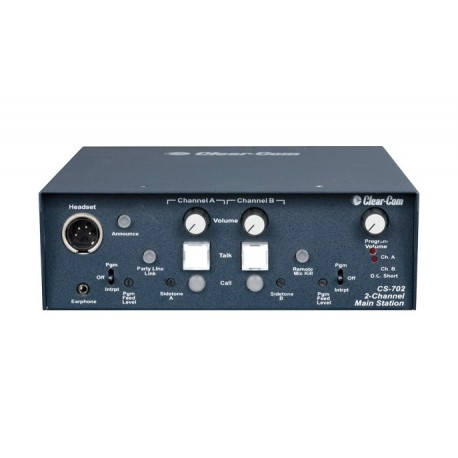 CS-702 Portable Main Station 2 Channel Clear Com