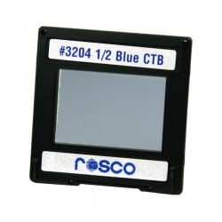 Rosco Permacolor - 13.5in. Round Dichroic Glass - 43204 Cinedichro 1/2 Blue CTB