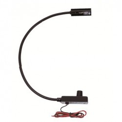 Littlite 18in. Gooseneck High Intensity Permanent End Mount Automotive Wiring Kit