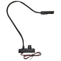 Littlite 12in. LED Gooseneck Permanent Mount w/ Automotive Wiring Kit