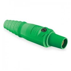 Hubbell Cable Mount Female Plug - Green - 4-2/0