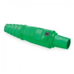 Hubbell Cable Mount Female Plug - Green - 2/0-4/0
