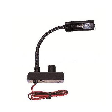 Littlite 6in Gooseneck High Intensity w/Permanent Mount & Automotive Wiring Kit