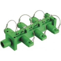 Hubbell Distribution Block (1-Male 6-Females) - Green