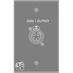 ETC DMX OUT Plug-In Station - 1 gang (ECPB DMXOUT)
