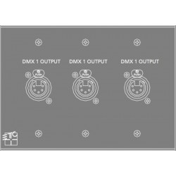 ETC DMX 3-OUT Plug-In Station - 1 gang (ECPB DMX3-OUT)