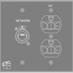 ETC NET / AC Plug-In Station - 2 Gang (ECPB NET/AC)