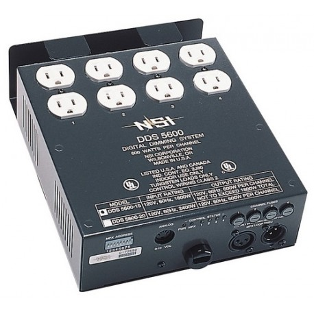 Leviton DDS 5600 4 Channel Dimmer Pack - 600W 20 Amp - DMX Installed