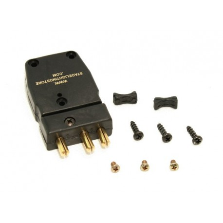 3-Pin Stage Plug - 20 Amp - Male