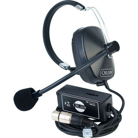 Clear-Com Que-Com Single Ear Headset/Beltpack Combination